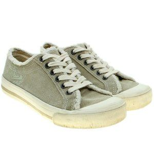 ROXY Leather Suede Lace-up Surf Sneakers